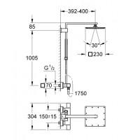 Душевая система Grohe Euphoria Cube XXL 230 system THM (26087000)