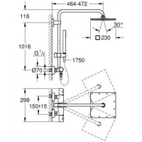 Душевая система Grohe Euphoria XXL 230 System THM (26187000)