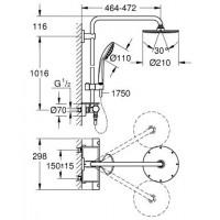 Душевая система Grohe Euphoria XXL System 210 THM (26363000)