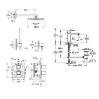 Комплект Grohe Grohtherm Cube для душа скрыт монтаж+Eurocube для раковины (34506000+23445000) 345234
