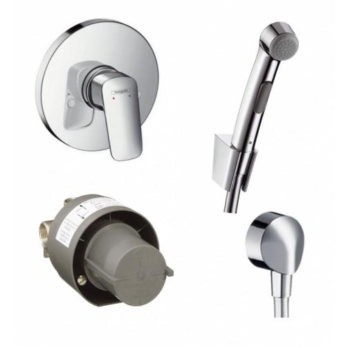 Набор Hansgrohe Logis гигиеничный душ+смеситель скрытого монтажа (32129111)