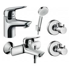 Набор смесителей для ванны Hansgrohe Novus 70 4в1 (710242664)