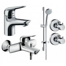 Набор смесителей для ванны Hansgrohe Novus 70 4в1 (710242774)