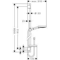 Душевой набор Hansgrohe Raindance Select S 120 хром/белый (26631400)
