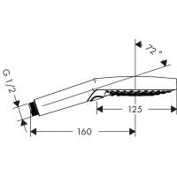 Душевая система Hansgrohe Raindance Select S 240 2jet Showerpipe с термостатом (27129000)