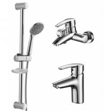 Набор смесителей для ванны iMPRESE Horak (05170 + 10170 + R670SD + 1115 + W100SL1C)