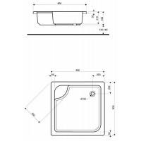 Душевой поддон Kolo Deep 90x90 (XBK0390000)