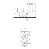 Компакт половой Kolo idol сидение из полипропилена (1902600U)