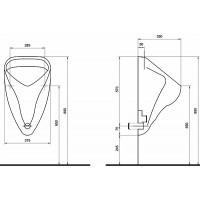 Писсуар Kolo Nova Pro Alex верхний подвод воды (66010)