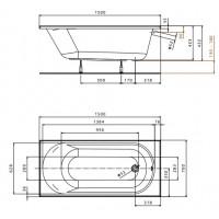 Ванна Kolo Opal Plus 150x70 без ножек (XWP135000N)