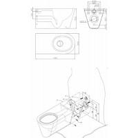 Унитаз подвесной Kolo для людей с ограниченными возможностями из нержавеющий стали (K13503000)