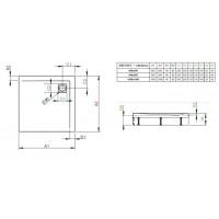 Душевой поддон Radaway Argos C с панелью 100x100 (4ACN1010-02)