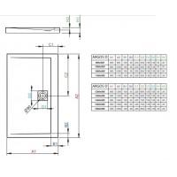 Душевой поддон Radaway Argos D 100x80 (4AD810-01)