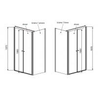 Боковая стенка Radaway Eos II S1 80 L прозрачное стекло (3799410-01L)