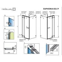 Боковая стенка Radaway Euphoria S3 110 прозрачное стекло (383039-01)