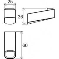 Одинарный крючок для полотенца Ravak 10° (X07P353)