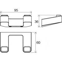 Двойной крючок для полотенец Ravak 10° (X07P352)