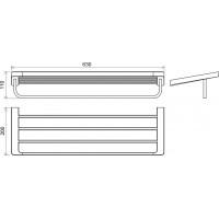 Полка для полотенец с держателем Ravak 10° (X07P327)