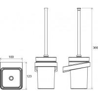 Щетка для унитаза с держателем Ravak 10° (X07P330)