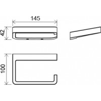 Держатель туалетной бумаги Ravak 10° (X07P329)