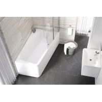 Штора для ванны Ravak 10CVS2-100 L белый/Transparent (7QLA0103Z1)