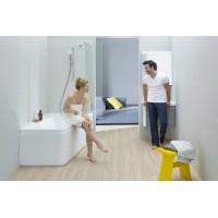 Штора для ванны Ravak 10CVS2-100 L сатин/Transparent (7QLA0U03Z1)