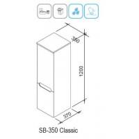 Боковой пенал Ravak Classic SB 350 L лате/белый (X000000941)