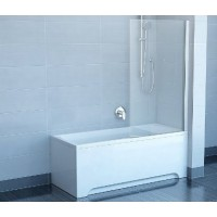 Штора для ванны Ravak CVS1-80 L белый/Transparent (7QL40100Z1)