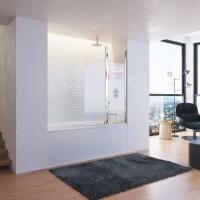 Штора для ванны Ravak CVS2-100 L белый/Transparent (7QLA0100Z1)