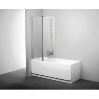 Штора для ванны Ravak CVS2-100 L полiр. алюм./Transparent (7QLA0C00Z1)