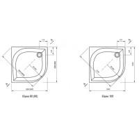 Душевой поддон Ravak Elipso 100 PAN (A22AA01410)