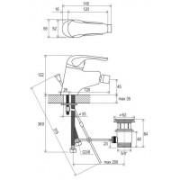 Смеситель для биде Ravak Rosa с открыванием стока RS 055.00 (X070013)