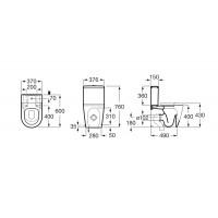 Сидение для унитаза Roca inspira Round Compacto Softclose SUPRALiT® (A80152C00B)