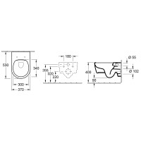 Комплект Унитаз подвесной Villeroy & Boch AVENTO Direct Flush с крышкой soft-close SLiM+Viconnect инсталляция+кнопка E200 (92246100+92249061+5656RS0)