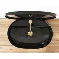 Раковина на столешницу Rea Aura 60,5x40,5 black, REA-U7912