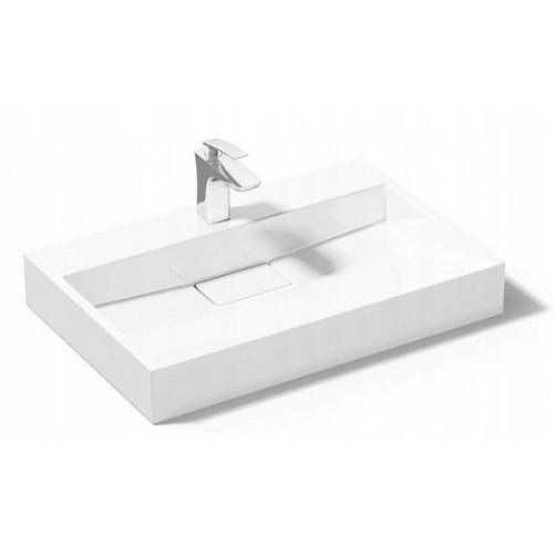 Умывальник Rea Goya 60x37 см белый, материал konglomerat (REA-U8901)