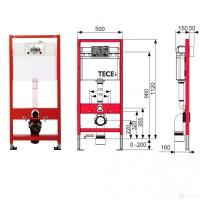 Инсталляция для унитаза TECE Base 4 в 1 с панелью смыва хром (9400005)