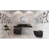 Унитаз подвесной Volle BLACK AMADEUS с сиденьем Slim Soft Close (13-06-055Black)