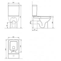 Унитаз-компакт пристенный Volle LARIOS с сиденьем Slim Soft Close (13-27-384)
