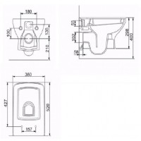 Унитаз подвесной Volle LARIOS с сиденьем Slim Soft Close (13-27-385)