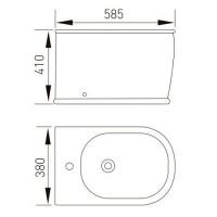 Биде напольное Volle PUERTA 585x380x410 мм (13-16-078)