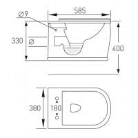Унитаз подвесной Volle Puerta RIM с сиденьем Slim Soft Close (13-16-077)
