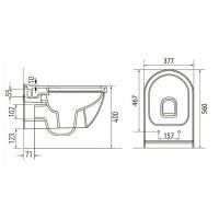 Унитаз подвесной Volle SOLAR Rimless с сиденьем Slim Soft Close (13-93-363)