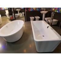 Ванна акриловая Volle 180x80x62 см черно/белая, 12-22-110black
