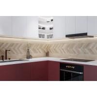 Плитка Terragres Wood Chevron right 15x90 бежевый, 9L1170